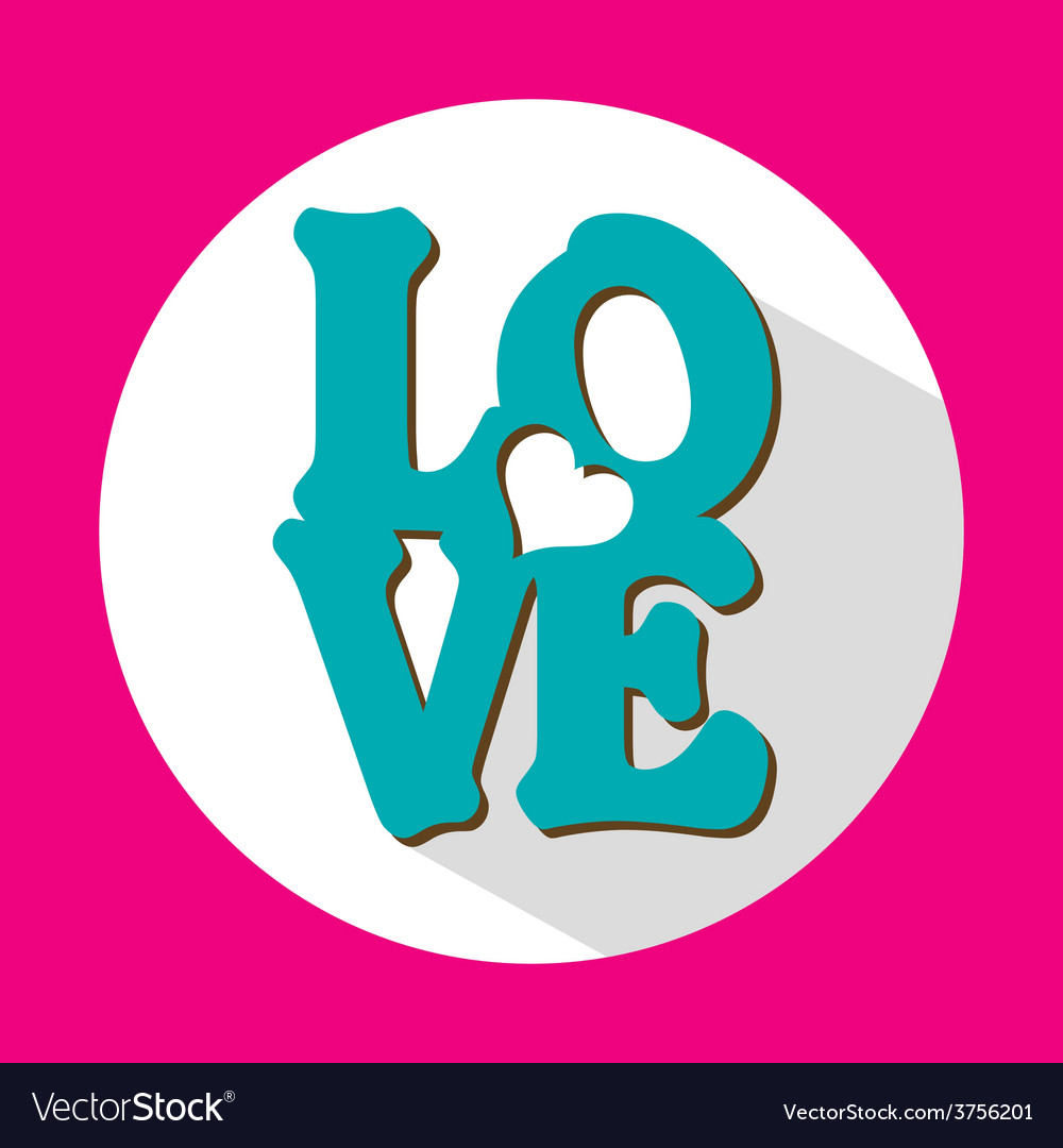 Love flat icon with long shadow vector | Price: 1 Credit (USD $1)
