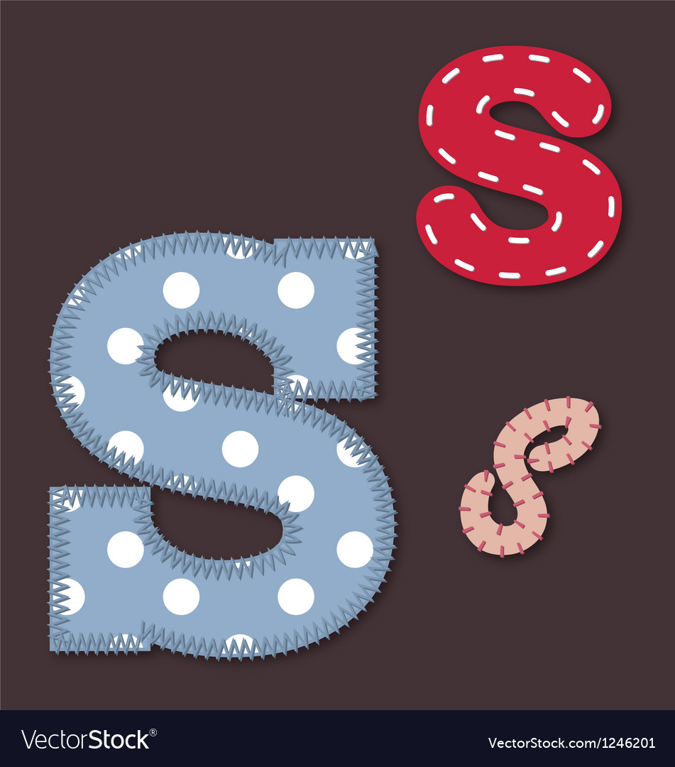 Set of stitched font - letter s vector   Price: 1 Credit (USD $1)
