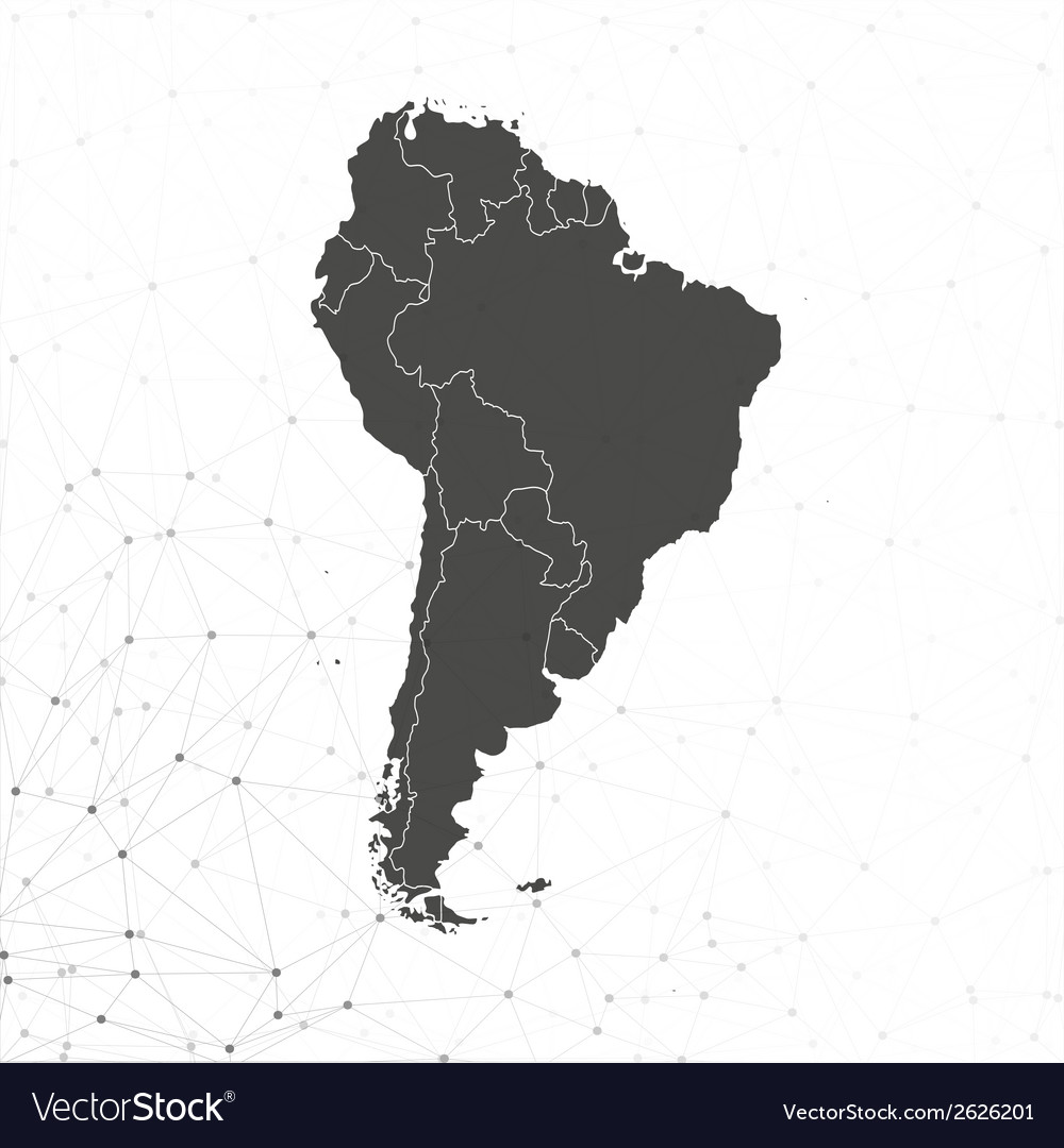 South america map  for communication vector | Price: 1 Credit (USD $1)