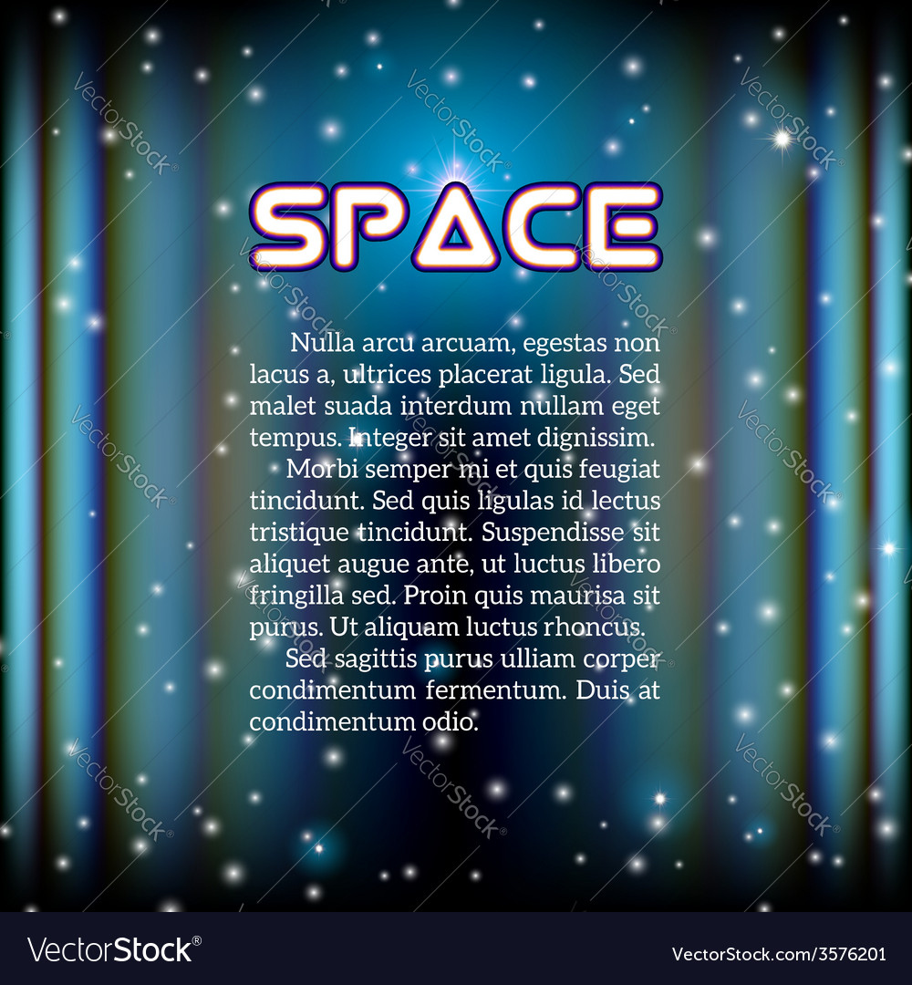 Space background with lightened corridor vector | Price: 1 Credit (USD $1)