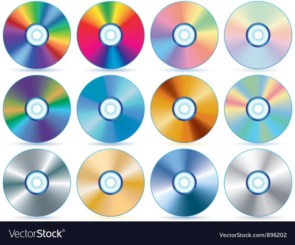 Cd collection vector | Price: 1 Credit (USD $1)