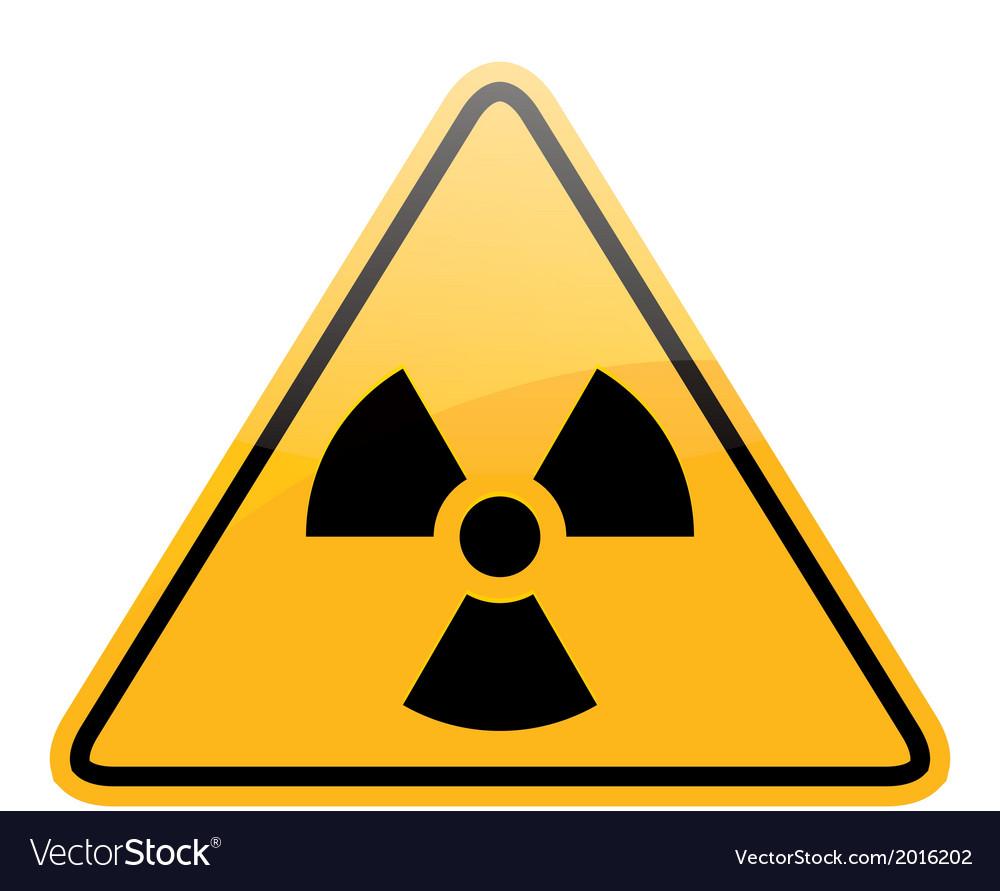Danger radiation sign vector   Price: 1 Credit (USD $1)
