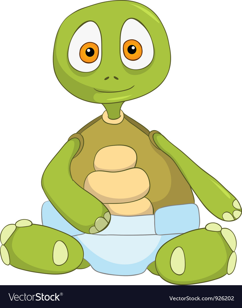 Funny turtle baby vector | Price: 3 Credit (USD $3)