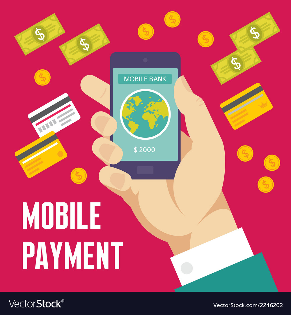 Mobile payment creative - business co vector | Price: 1 Credit (USD $1)