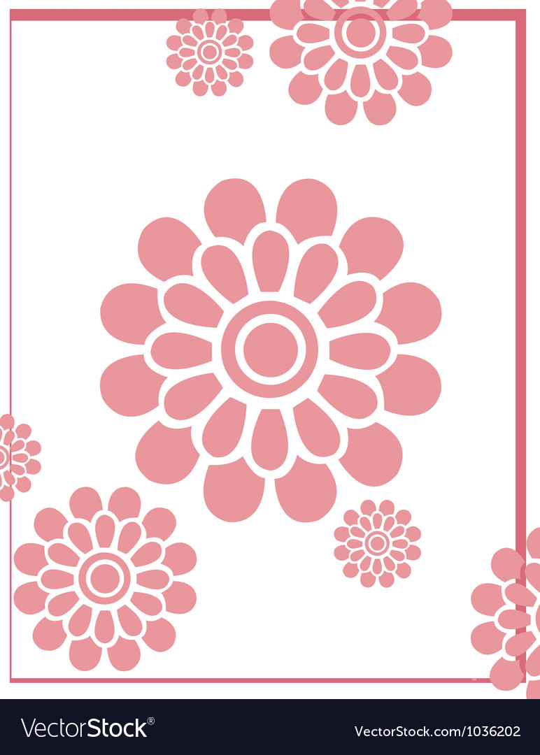 Pinkflowerbackground vector | Price: 1 Credit (USD $1)