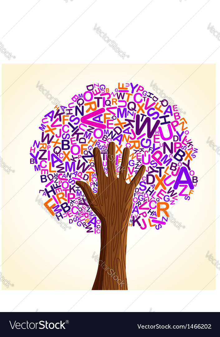School education concept tree vector | Price: 1 Credit (USD $1)