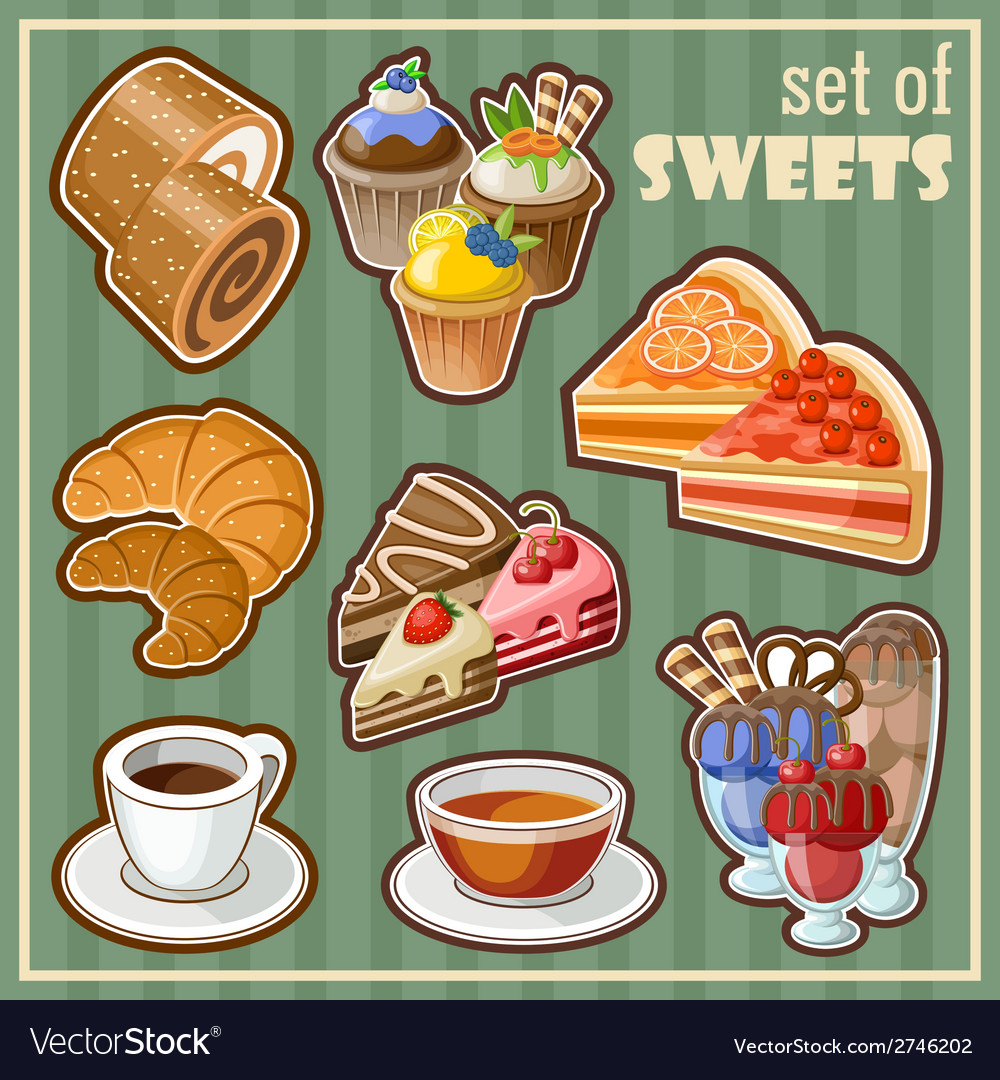 Set of sweets vector | Price: 3 Credit (USD $3)