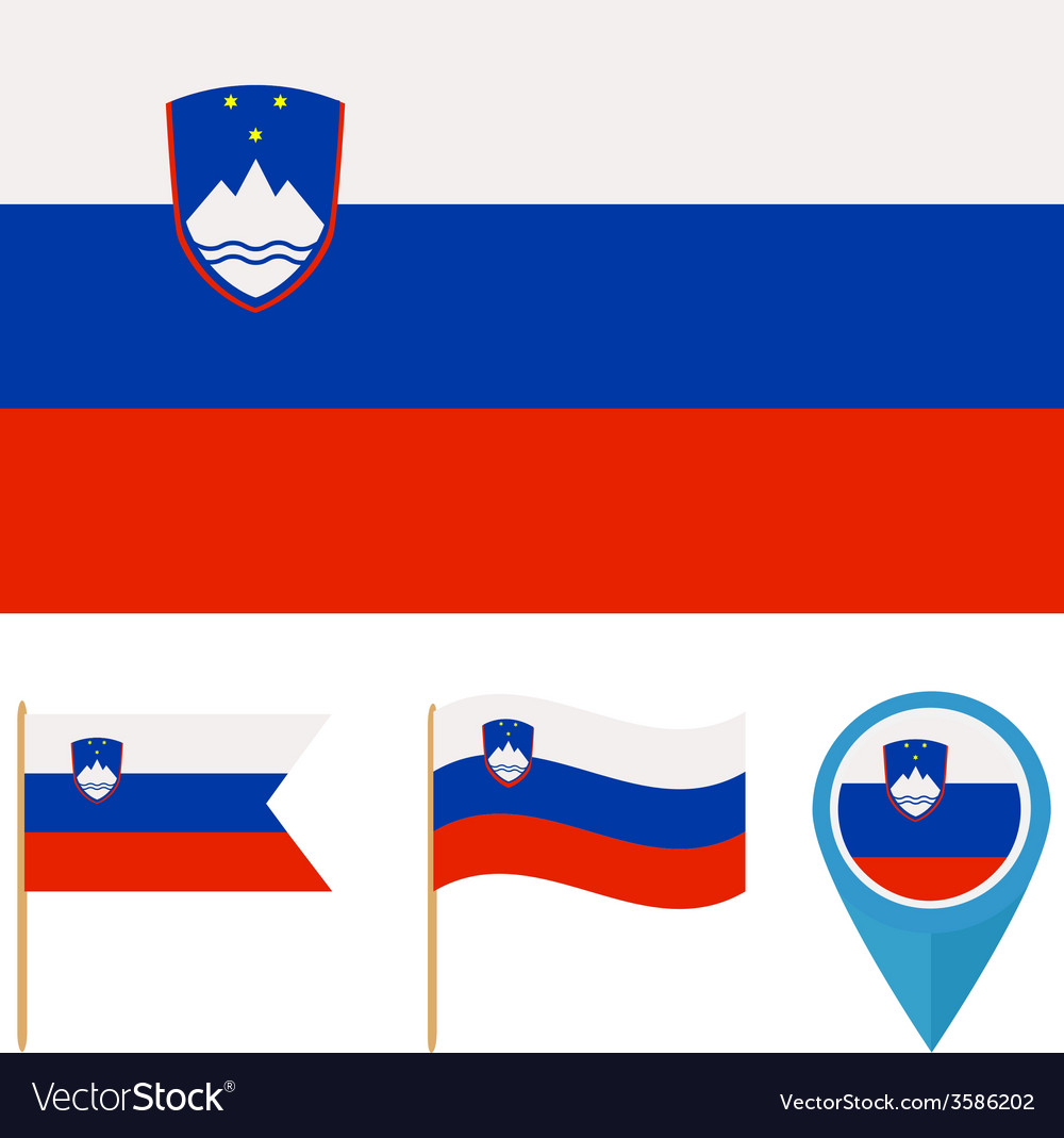 Slovenia country flag vector | Price: 1 Credit (USD $1)