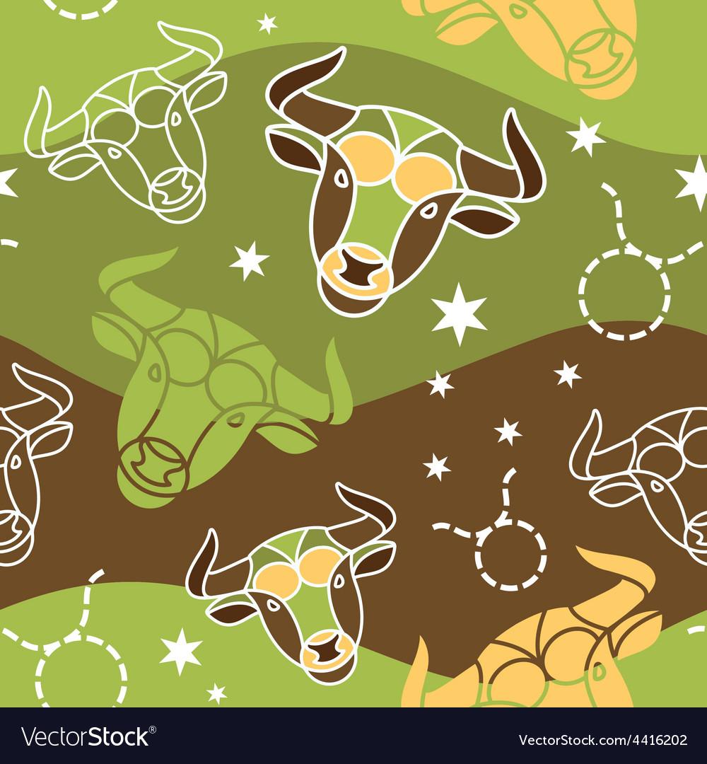 Taurus - zodiac seamless pattern vector   Price: 1 Credit (USD $1)