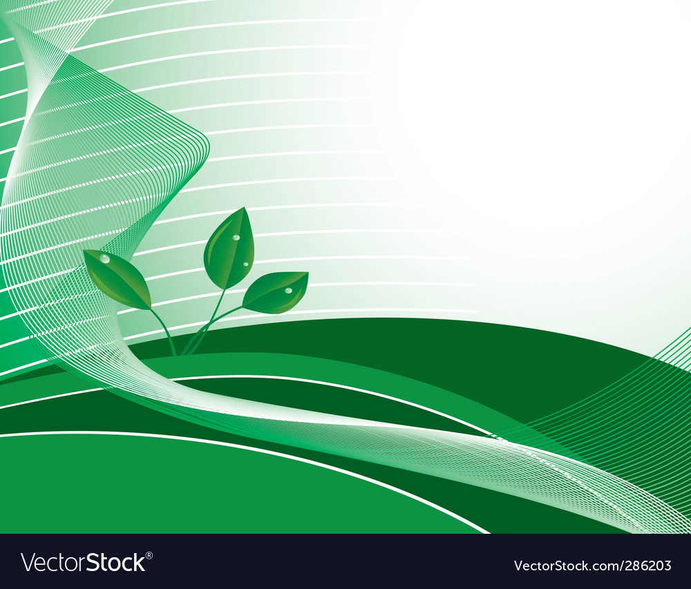 Abstract green background with plants vector | Price: 1 Credit (USD $1)