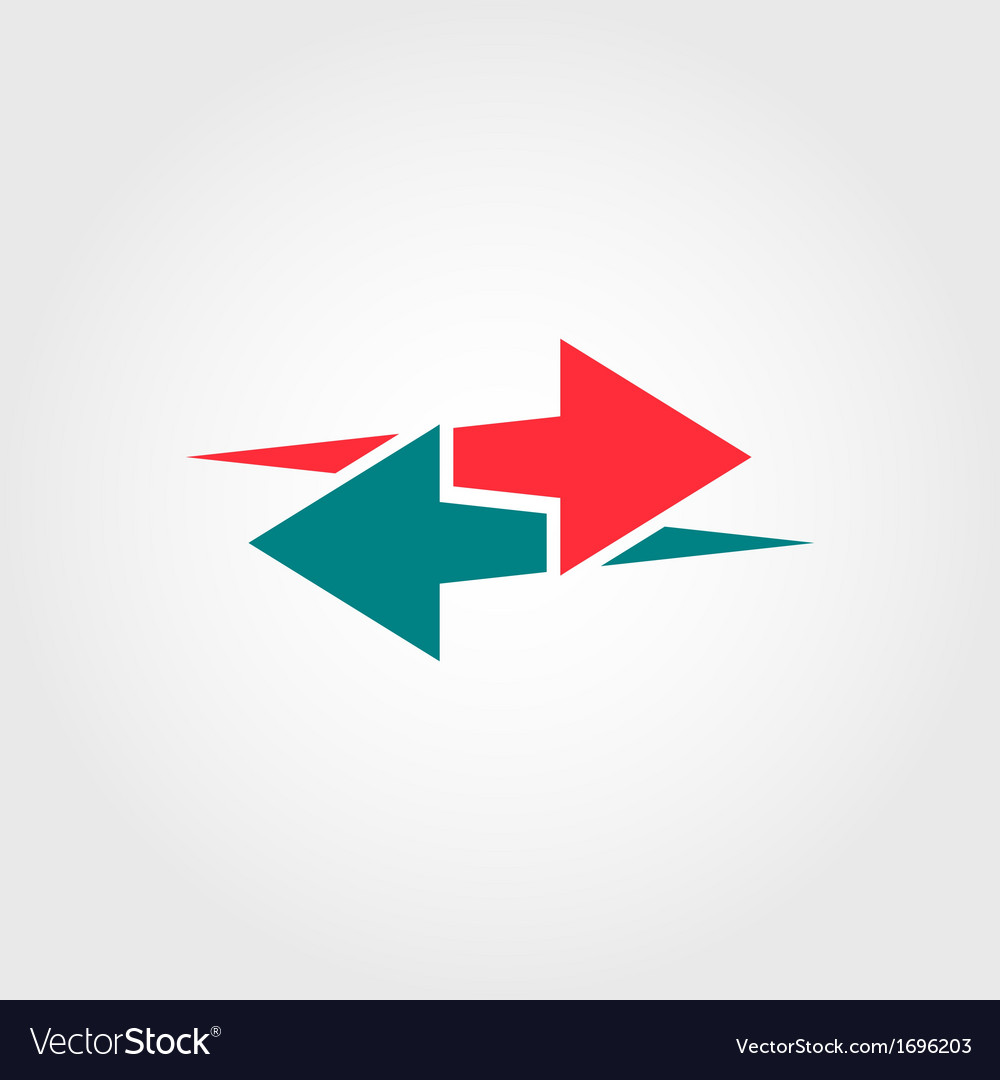 Arrows logo template vector | Price: 1 Credit (USD $1)