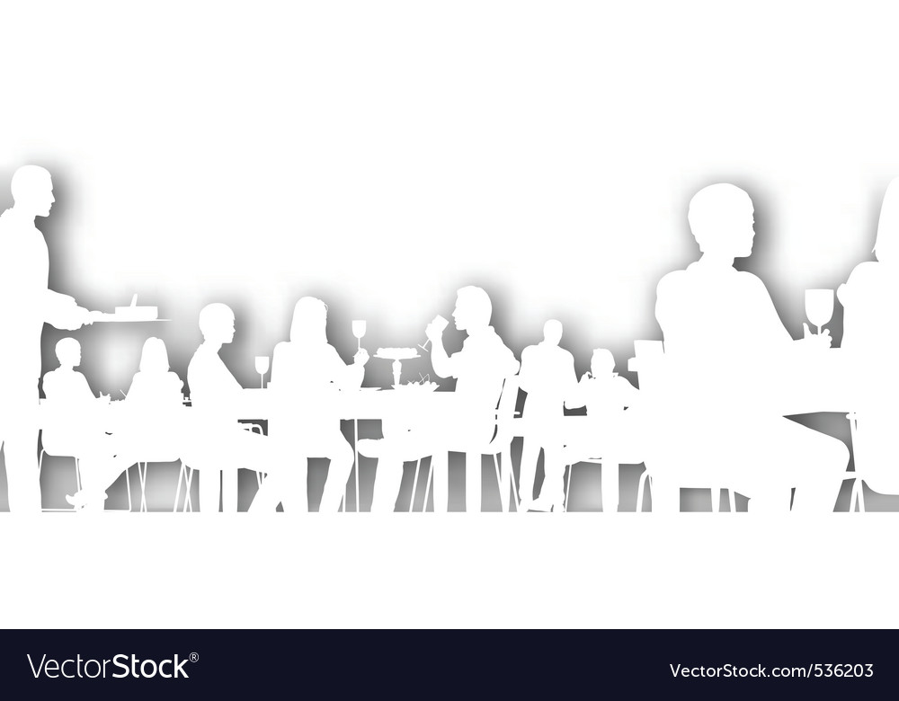 Cutout dining vector | Price: 1 Credit (USD $1)