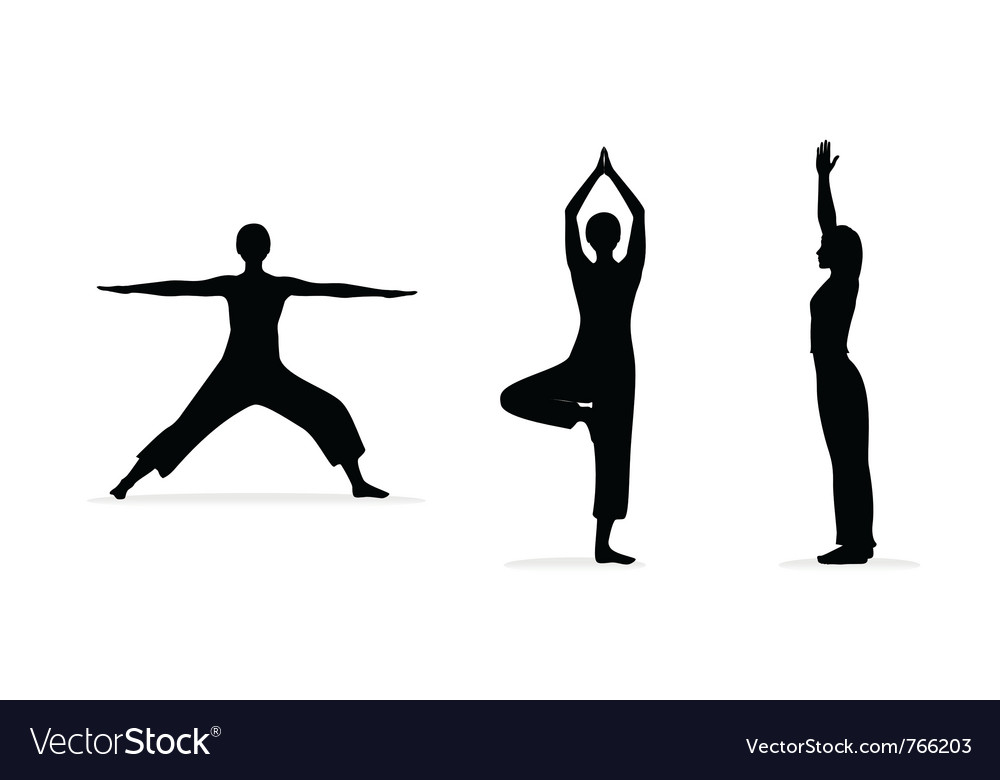 Fitness women silhouettes vector | Price: 1 Credit (USD $1)