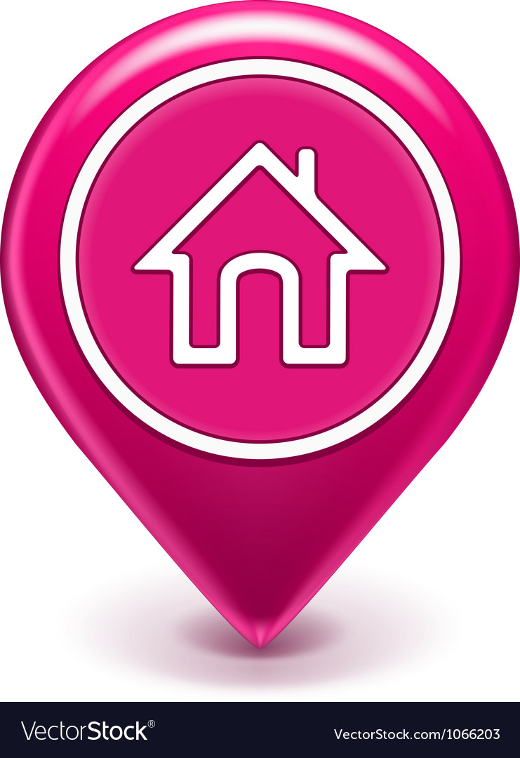 Home location icon vector | Price: 1 Credit (USD $1)