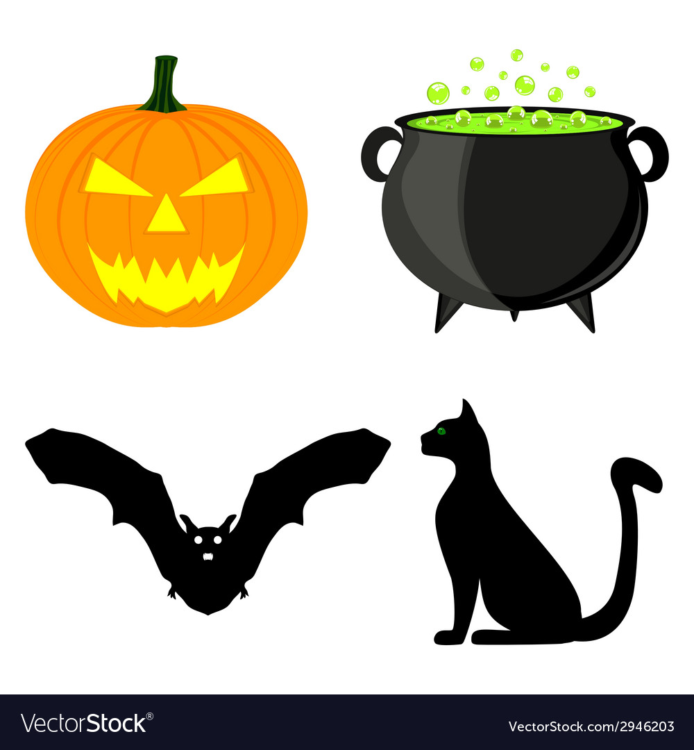 Icon set for halloween vector | Price: 1 Credit (USD $1)