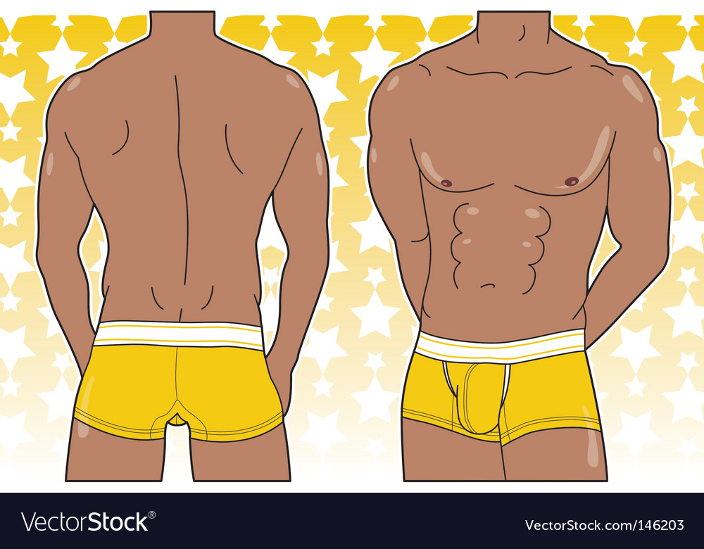 Man in boxer brief vector | Price: 1 Credit (USD $1)
