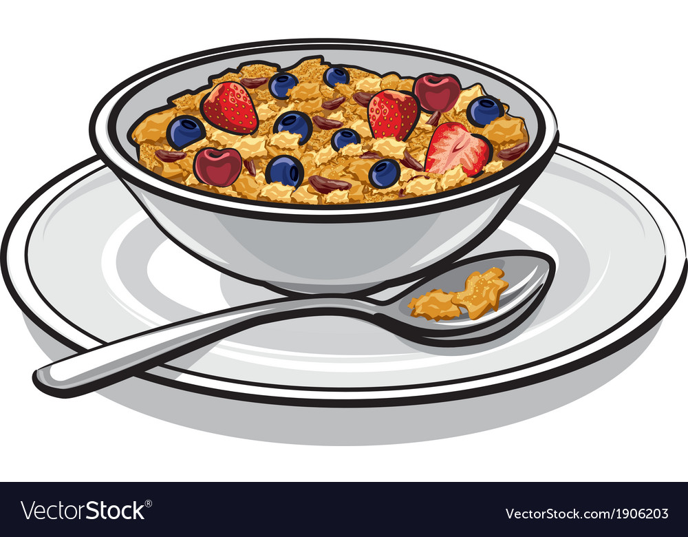 Muesli on breakfast vector | Price: 1 Credit (USD $1)