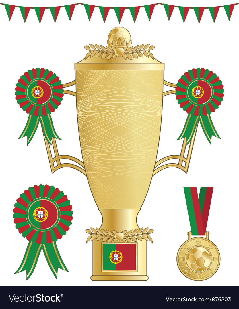Portugal football trophy vector | Price: 1 Credit (USD $1)