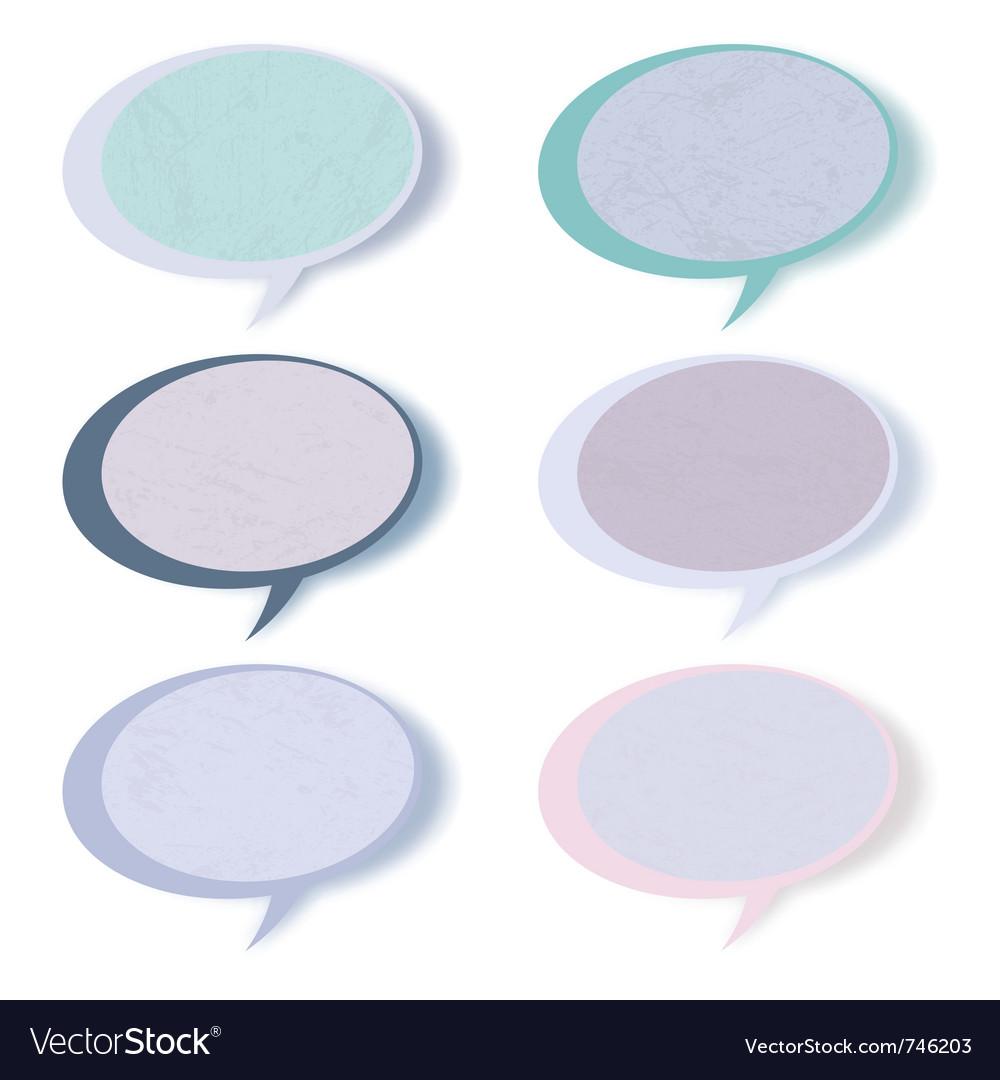 Retro speech bubbles vector | Price: 1 Credit (USD $1)