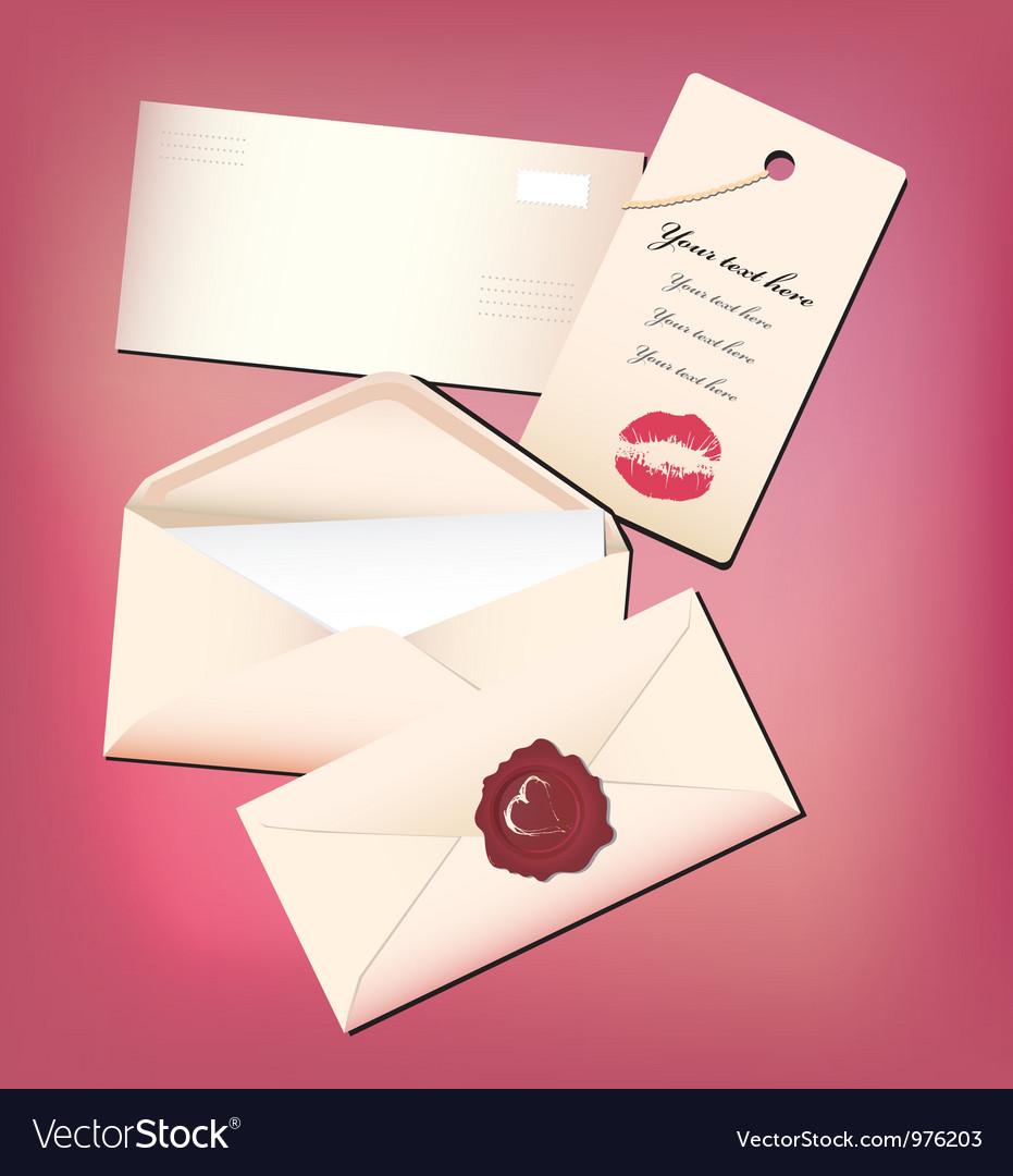Valentine envelop and card vector | Price: 1 Credit (USD $1)