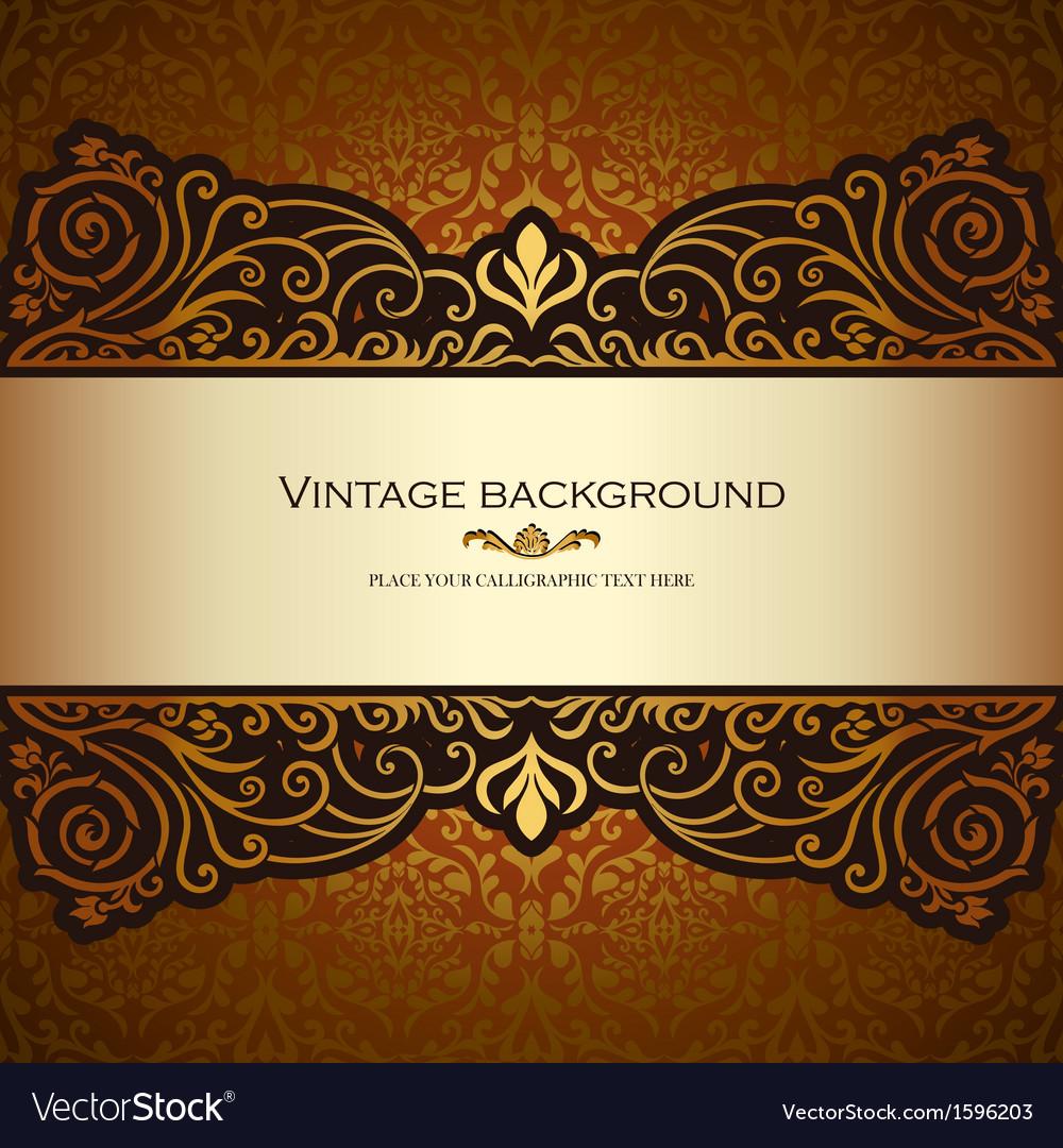 Vintage card gold royal vector   Price: 1 Credit (USD $1)