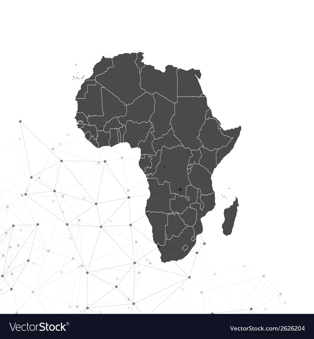 Africa map background  for communication vector | Price: 1 Credit (USD $1)