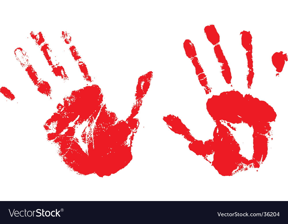Bloody hands vector | Price: 1 Credit (USD $1)
