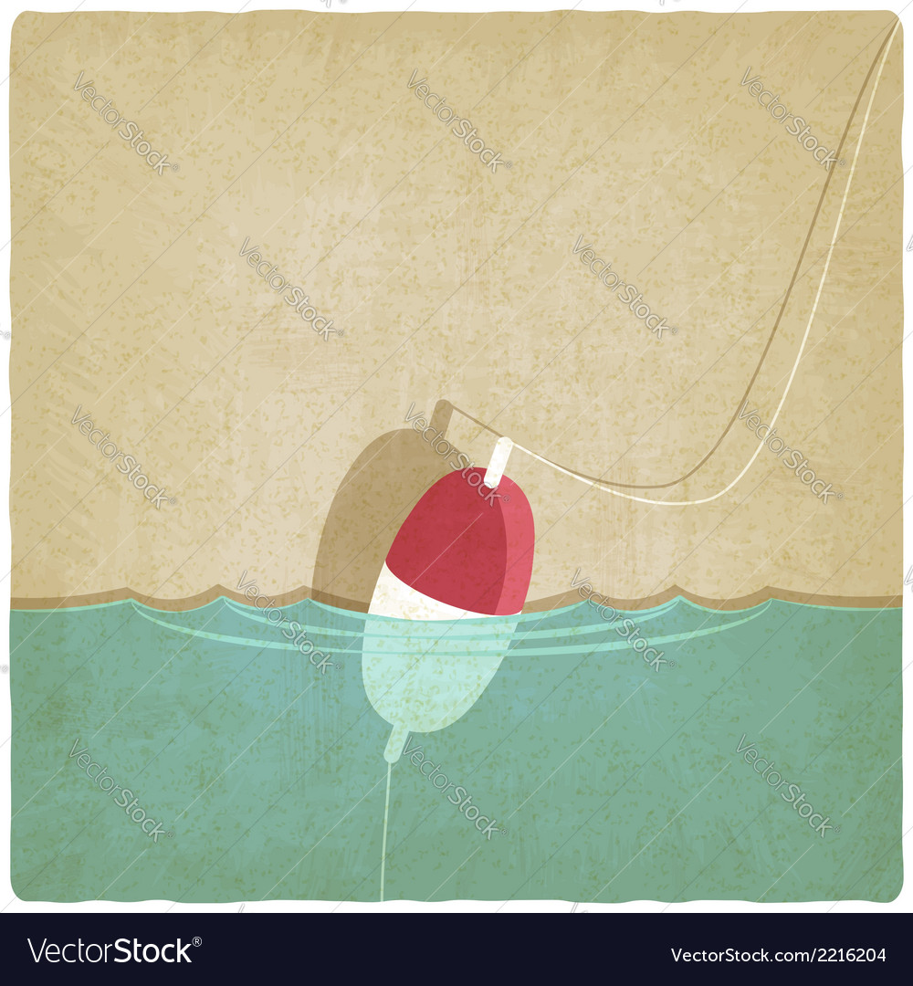 Bobber fishing old background vector | Price: 1 Credit (USD $1)