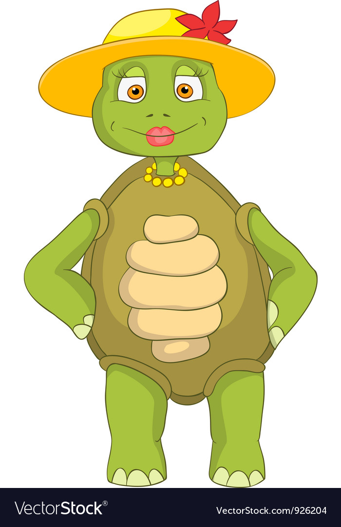 Funny turtle wife vector   Price: 3 Credit (USD $3)