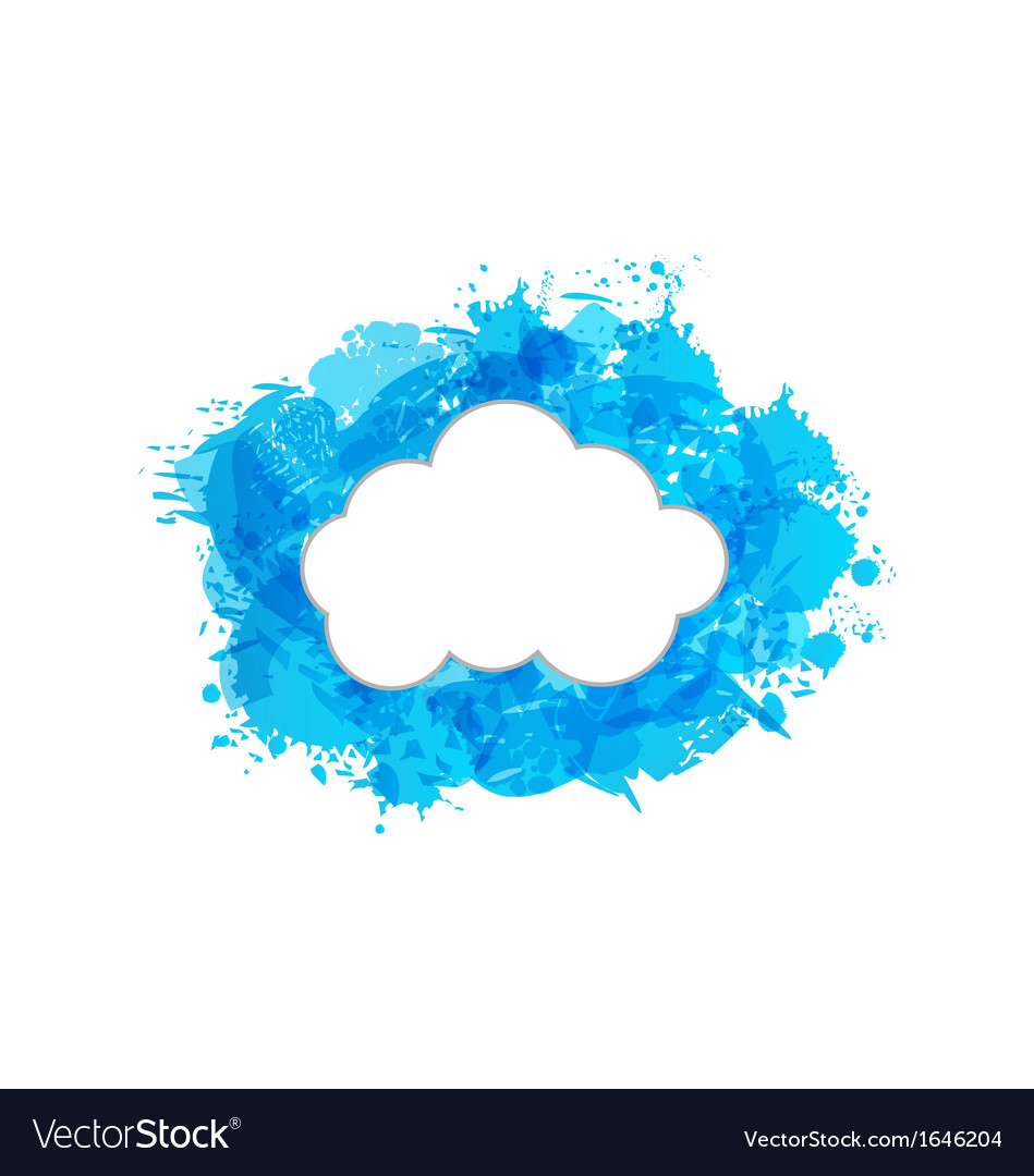 Grungy frame with cloud vector | Price: 1 Credit (USD $1)