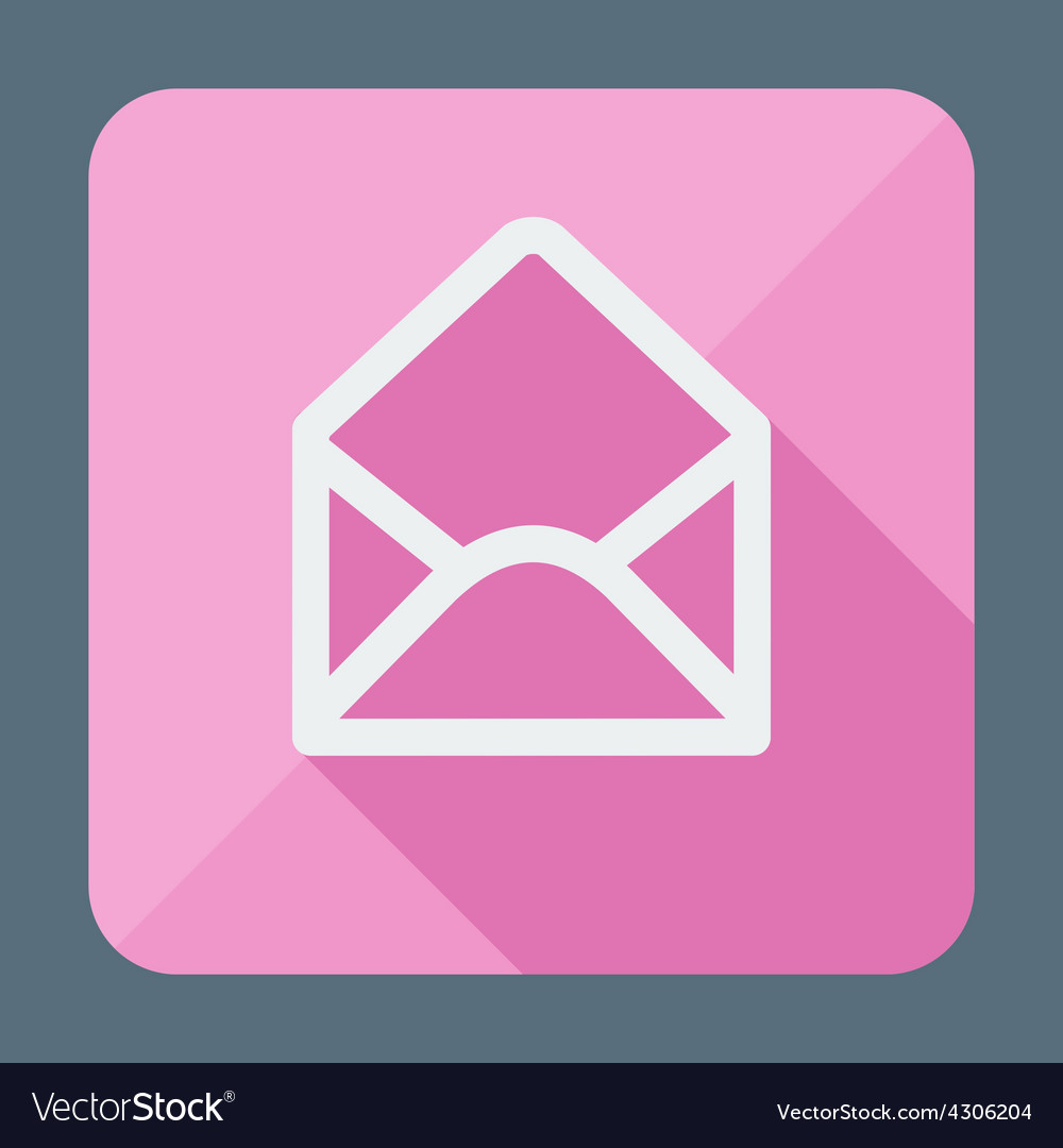 Mail icon open envelope flat design vector | Price: 1 Credit (USD $1)