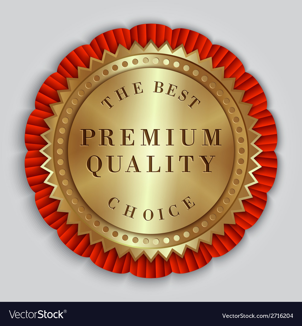 Round golden badge label with text vector | Price: 1 Credit (USD $1)