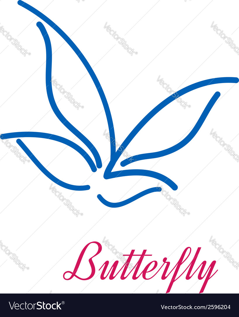 Stylized butterfly icon vector | Price: 1 Credit (USD $1)