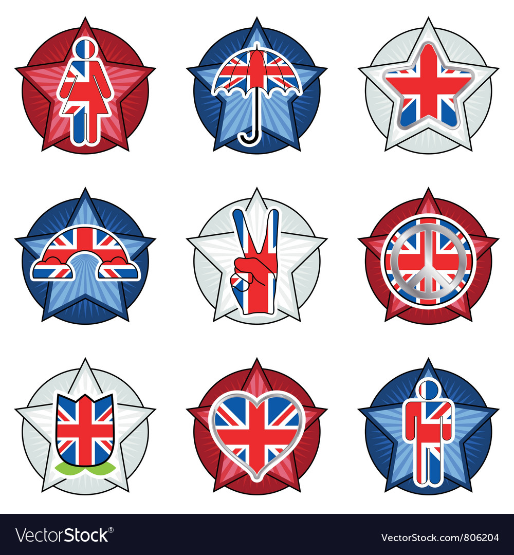 Uk badges vector | Price: 1 Credit (USD $1)