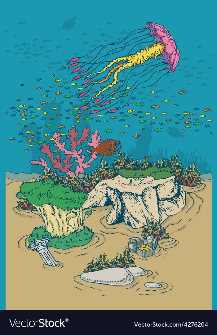 Underwater world vector   Price: 3 Credit (USD $3)