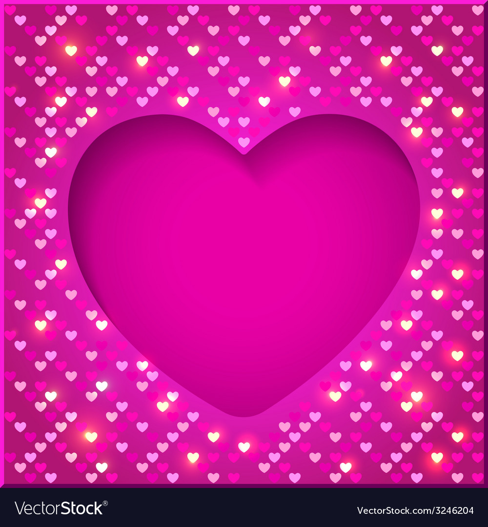Valentines day bright frame vector | Price: 1 Credit (USD $1)