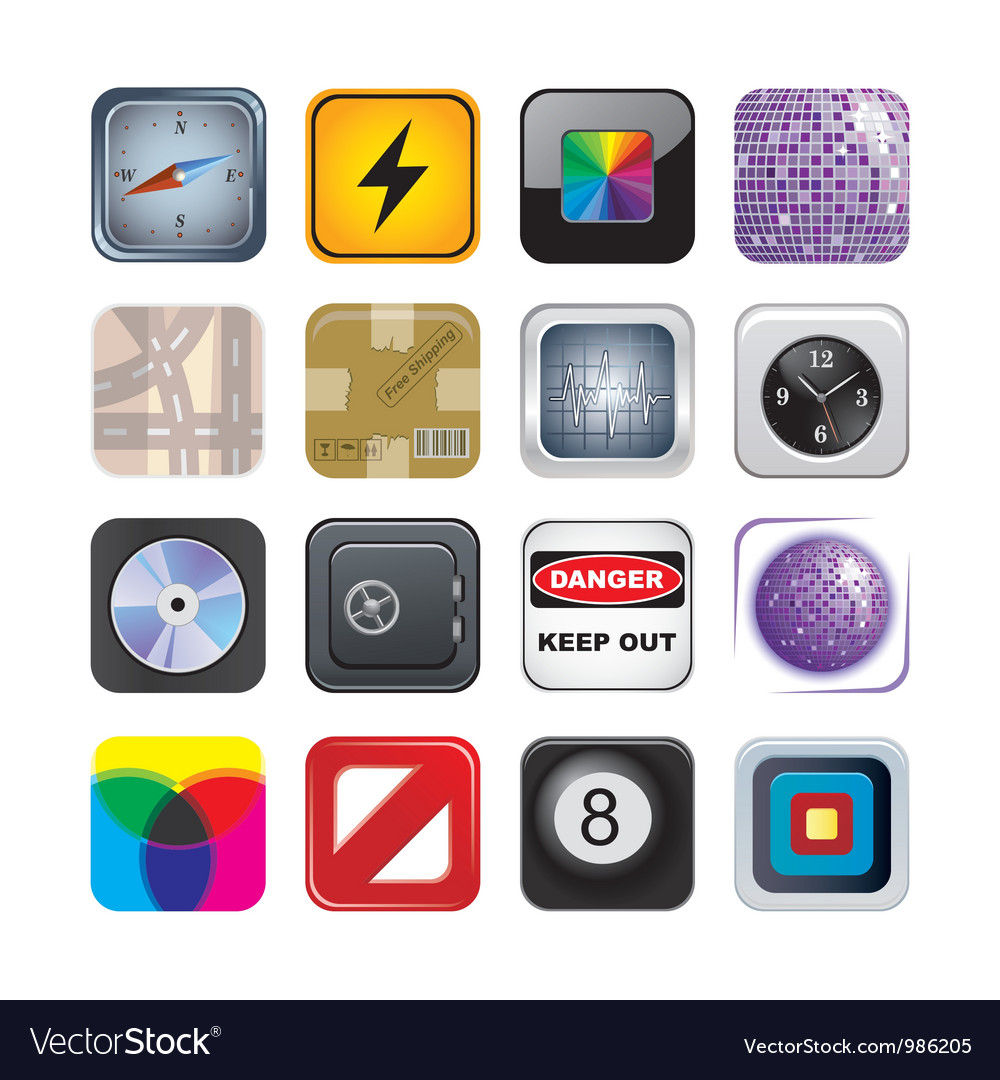 Apps icon set two vector | Price: 3 Credit (USD $3)