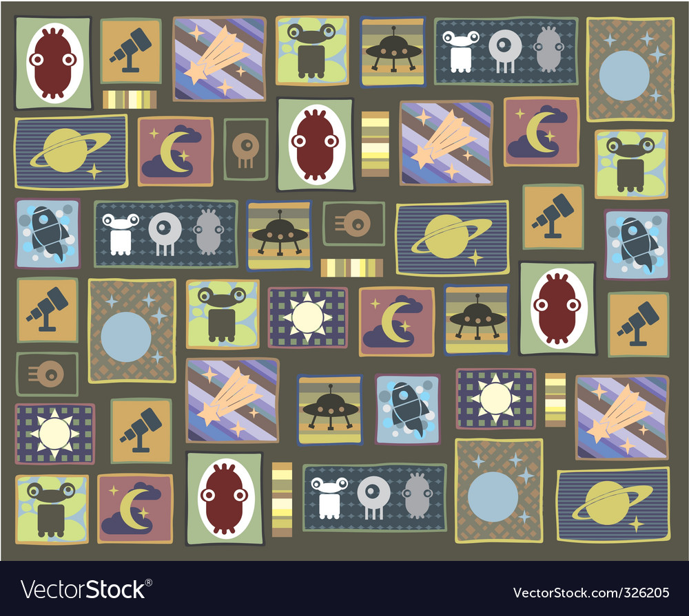 Astrology stamps vector | Price: 1 Credit (USD $1)
