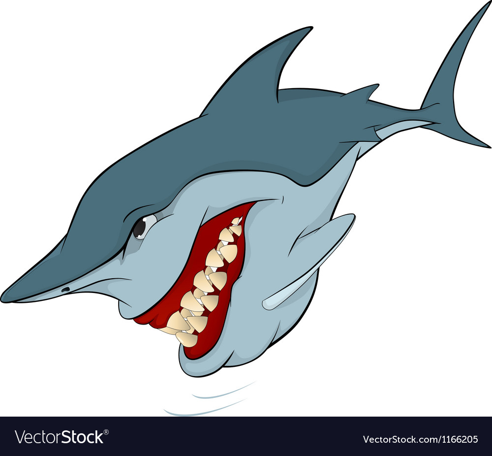 Cheerful shark vector | Price: 1 Credit (USD $1)
