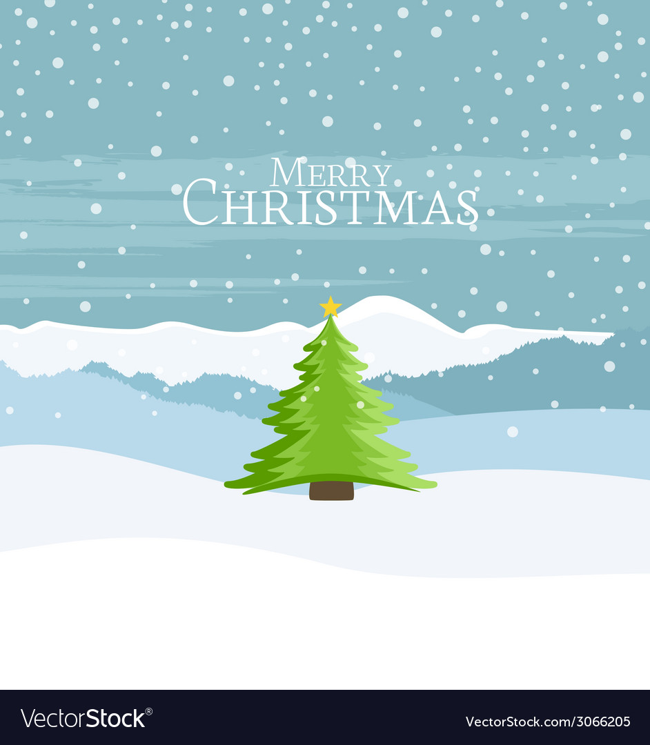 Christmas landscape vector | Price: 1 Credit (USD $1)