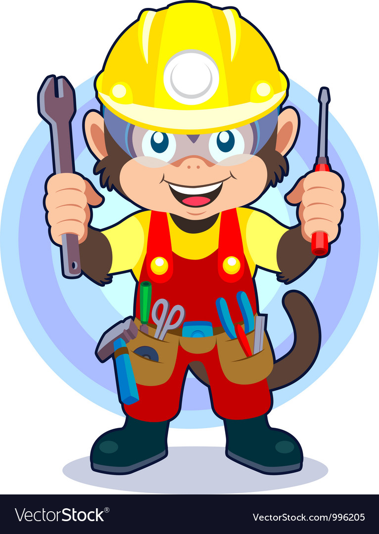 Construction monkey vector | Price: 3 Credit (USD $3)
