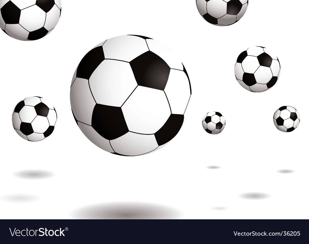Football bounce shadow vector | Price: 1 Credit (USD $1)