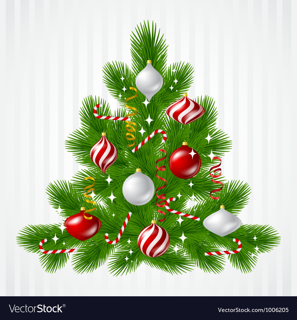Merry christmas background with tree and glossy vector | Price: 1 Credit (USD $1)