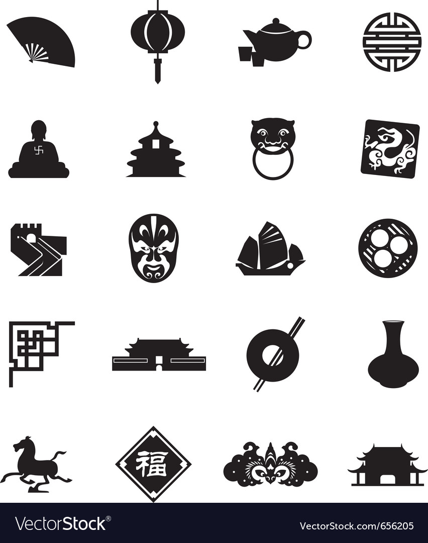 Oriental icons vector | Price: 1 Credit (USD $1)