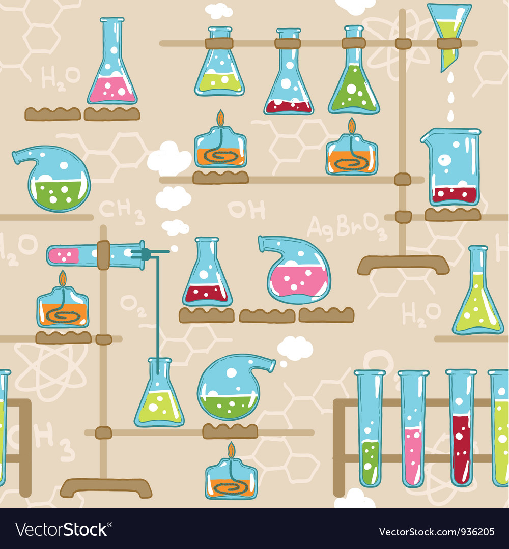 Seamless pattern with chemistry elements vector | Price: 1 Credit (USD $1)