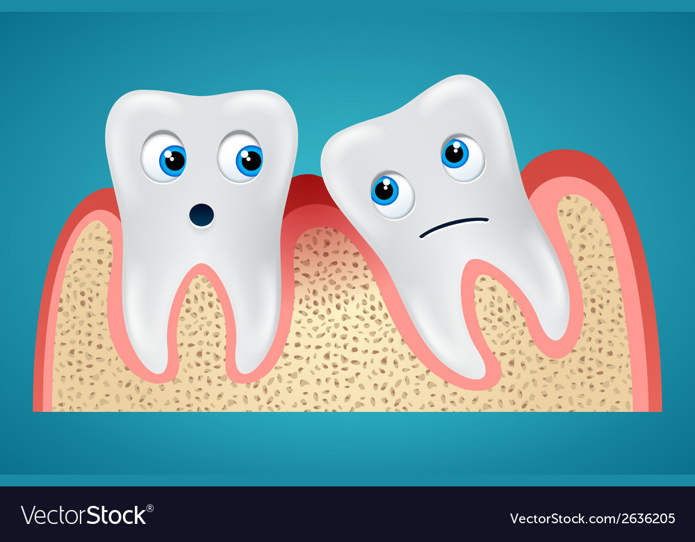 Two tooth and gum hurt vector | Price: 1 Credit (USD $1)