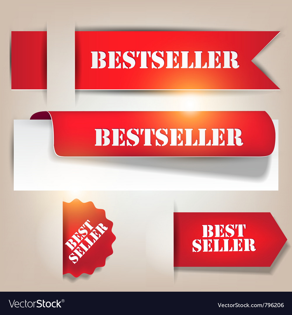 Bestseller banners labels vector | Price: 1 Credit (USD $1)