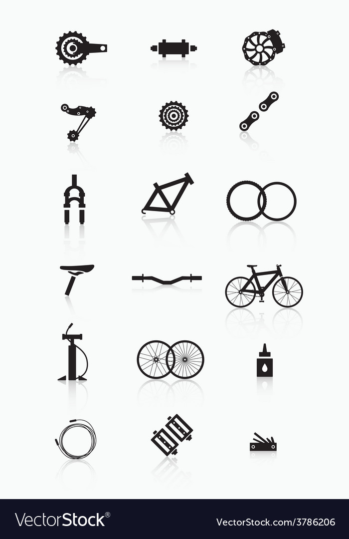 Bike accessories vector | Price: 1 Credit (USD $1)