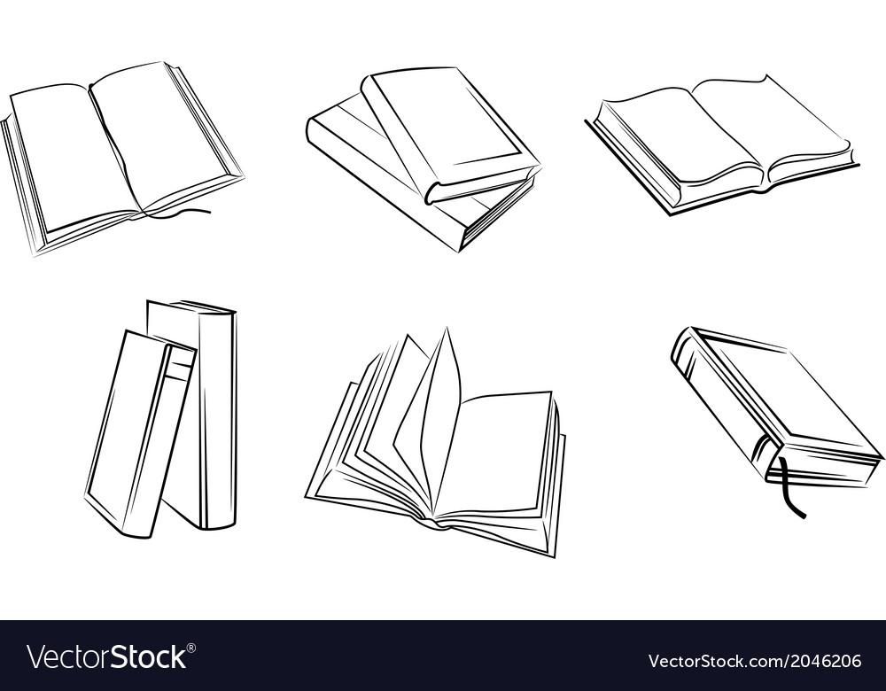 Books set vector | Price: 1 Credit (USD $1)