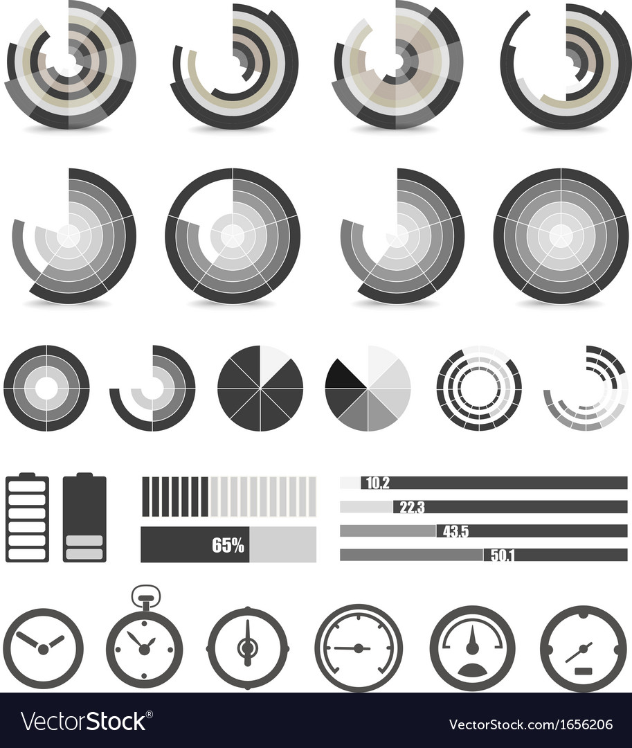 Different chart and indicators collection vector   Price: 1 Credit (USD $1)
